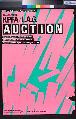 The 3rd Annual KPFA / L.A.G. Auction.