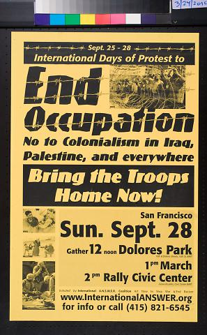 International Days of Protest to End Occupation