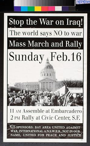 Stop the War on Iraq! Mass March and Rally