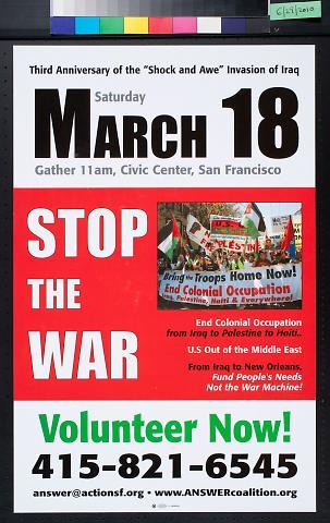 """Third Anniversary of the """"Shock and Awe"""" Invasion of Iraq"""