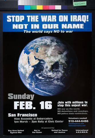 Stop the war on Iraq! Not in our name