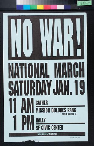 No War! National March Saturday Jan. 19