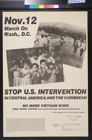 Stop U.S. Intervention In Central America And The Carribean