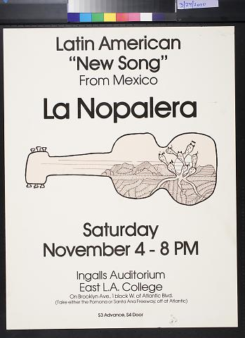 "Latin American ""New Song"" From Mexico La Nopalera"