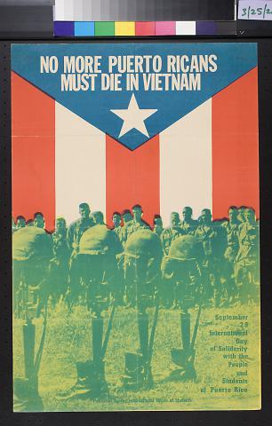 No More Puerto Ricans Must Die In Vietnam