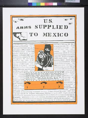 U.S. arms supplied to Mexico